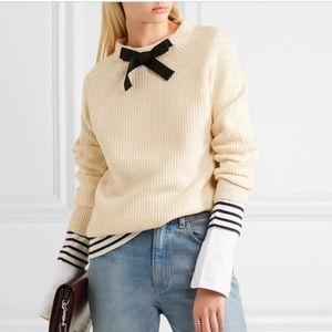 NWOT Jcrew neck bow sweater